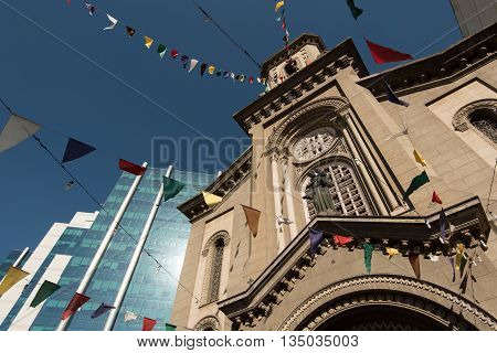 Church of Saint Anthony of the Poor (Santo Antonio dos Pobres) in Downtown Rio de Janeiro, Brazil