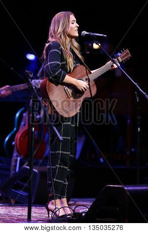 NEW YORK-APR 30: Lennon Stella performs onstage during the 'Nashville' Tour at The Beacon Theater on April 30, 2015 in New York City.