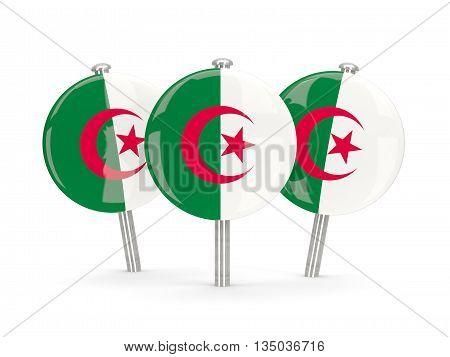 Flag Of Algeria, Round Pins