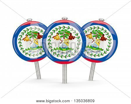 Flag Of Belize, Round Pins