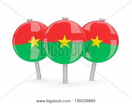 Flag Of Burkina Faso, Round Pins