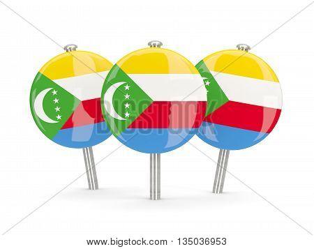 Flag Of Comoros, Round Pins
