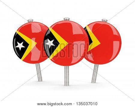 Flag Of East Timor, Round Pins