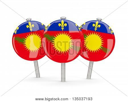 Flag Of Guadeloupe, Round Pins