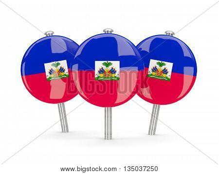 Flag Of Haiti, Round Pins