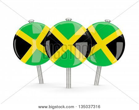 Flag Of Jamaica, Round Pins