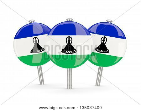 Flag Of Lesotho, Round Pins