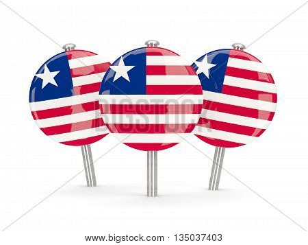 Flag Of Liberia, Round Pins
