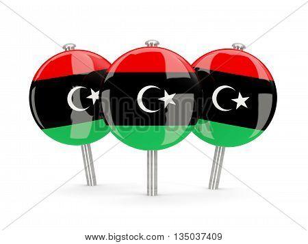 Flag Of Libya, Round Pins