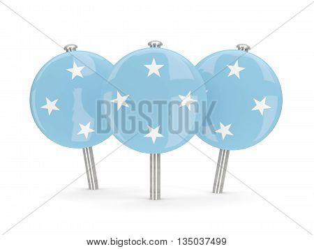 Flag Of Micronesia, Round Pins