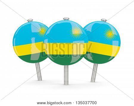 Flag Of Rwanda, Round Pins