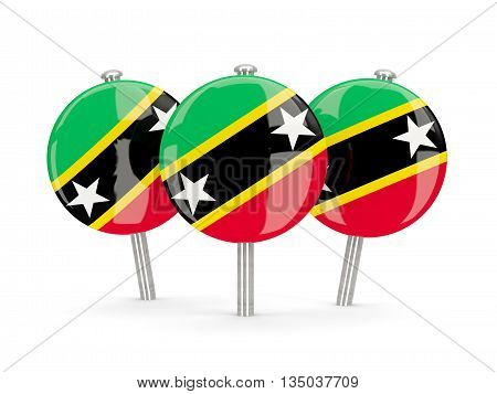 Flag Of Saint Kitts And Nevis, Round Pins