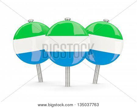 Flag Of Sierra Leone, Round Pins
