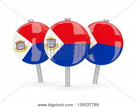 Flag Of Sint Maarten, Round Pins