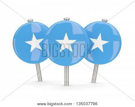 Flag Of Somalia, Round Pins