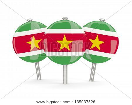 Flag Of Suriname, Round Pins