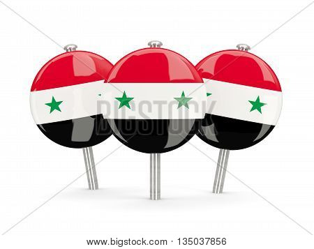 Flag Of Syria, Round Pins