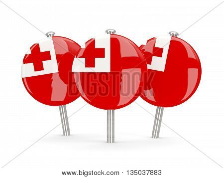 Flag Of Tonga, Round Pins