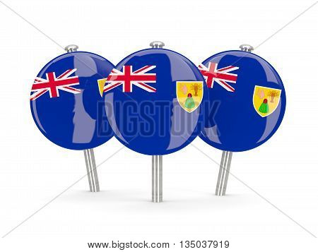 Flag Of Turks And Caicos Islands, Round Pins