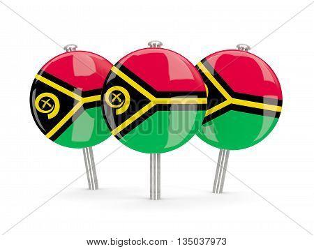 Flag Of Vanuatu, Round Pins