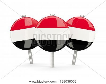 Flag Of Yemen, Round Pins