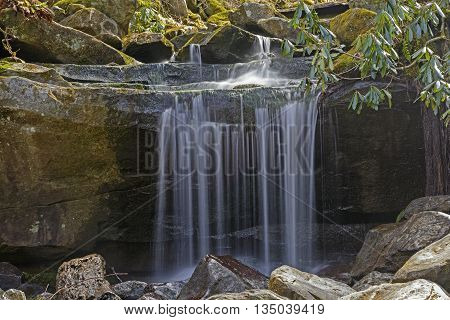 Tiny Falls in the Great Smoky Mountains in Tennessee