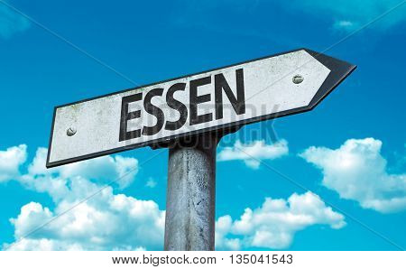 Essen road sign in a concept image