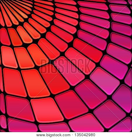 abstract vector stained-glass mosaic background - purple and red