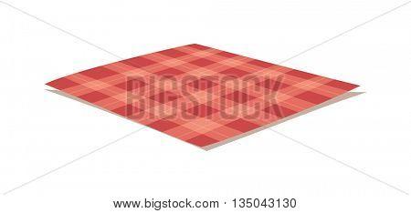 Tablecloth vector illustration.