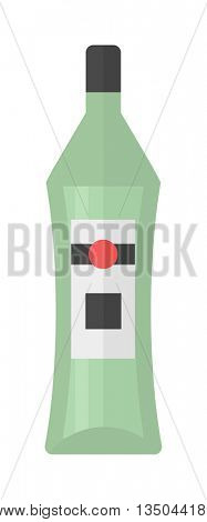 Martini bottle vector illustration.