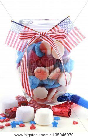 Happy Fourth Of July Candy Jar.