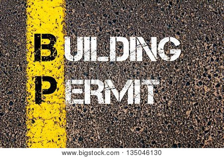 Concept Image Of Business Acronym Bp Building Permit
