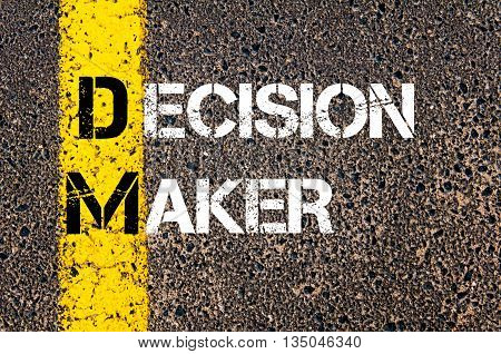 Concept Image Of Business Acronym Dm Decision Maker