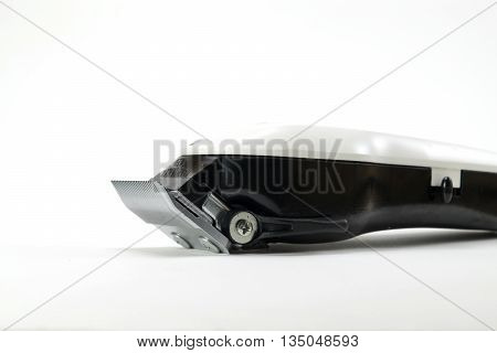 hair clipper on white background isolated selective focus