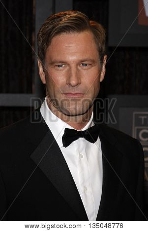 Aaron Eckhart at the VH1's 14th Annual Critics' Choice Awards held at the Santa Monica Civic Auditorium in Santa Monica, USA on January 8, 2009.
