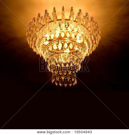 lustre de cristal elegante