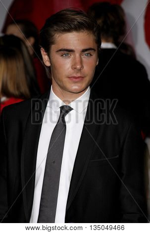 Zac Efron at the Los Angeles Premiere of 'High School Musical 3: Senior Year' held at the Galen Center in Los Angeles, USA on October 16, 2008.