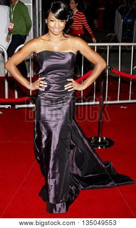 Monique Coleman at the Los Angeles Premiere of 'High School Musical 3: Senior Year' held at the Galen Center in Los Angeles, USA on October 16, 2008.