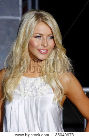 Julianne Hough at the Los Angeles Premiere of 'High School Musical 3: Senior Year' held at the Galen Center in Los Angeles, USA on October 16, 2008.
