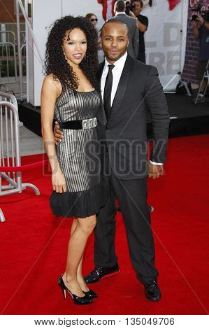 Brook Kerr and Christopher Oneal Warren at the Los Angeles Premiere of 'High School Musical 3: Senior Year' held at the Galen Center in Los Angeles, USA on October 16, 2008.