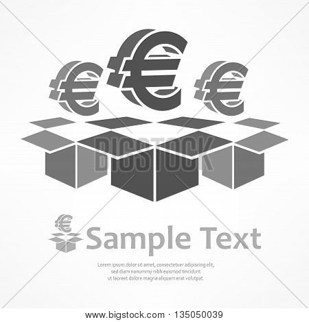 Euro Signs In Boxes
