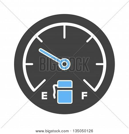 Fuel, gasoline, gauge icon vector image. Can also be used for car servicing. Suitable for use on web apps, mobile apps and print media.