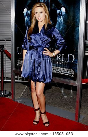 Vail Bloom at the World Premiere of 'Underworld: Rise of the Lycans' held at the ArcLight Cinemas in Hollywood, USA on January 22, 2009.