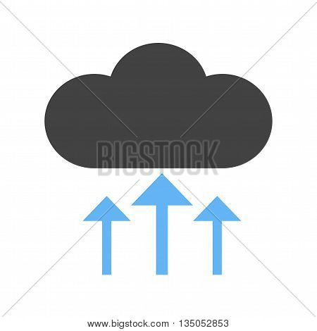 Cloud, upload, network icon vector image.Can also be used for data sharing. Suitable for mobile apps, web apps and print media.