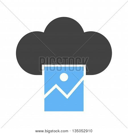 Image, cloud, media icon vector image.Can also be used for data sharing. Suitable for mobile apps, web apps and print media.