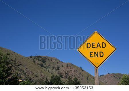 Dead end sign on the roadstreet in the countrywalk waycardrivetraveljourney