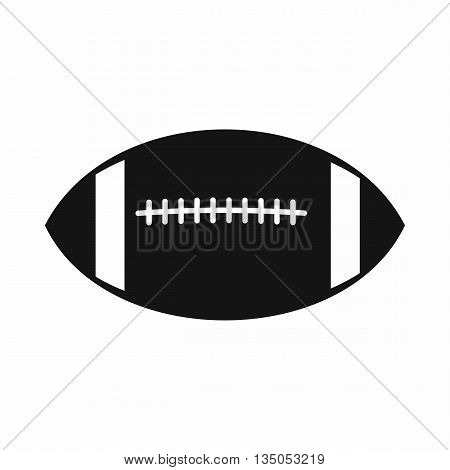 Rugby ball icon in simple style isolated on white background