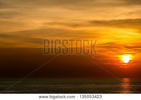 Beautiful Sunset at Andaman sea Krabi Phiket Thailand
