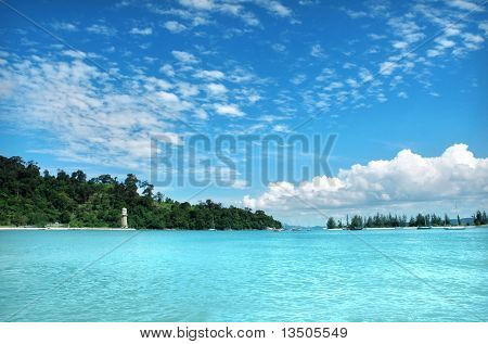 beautiful sea and cloudscape