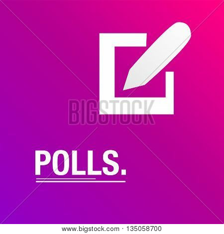 Polls pink background for the election day